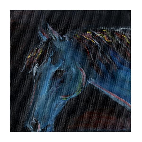 horses-blue-bevkadowart